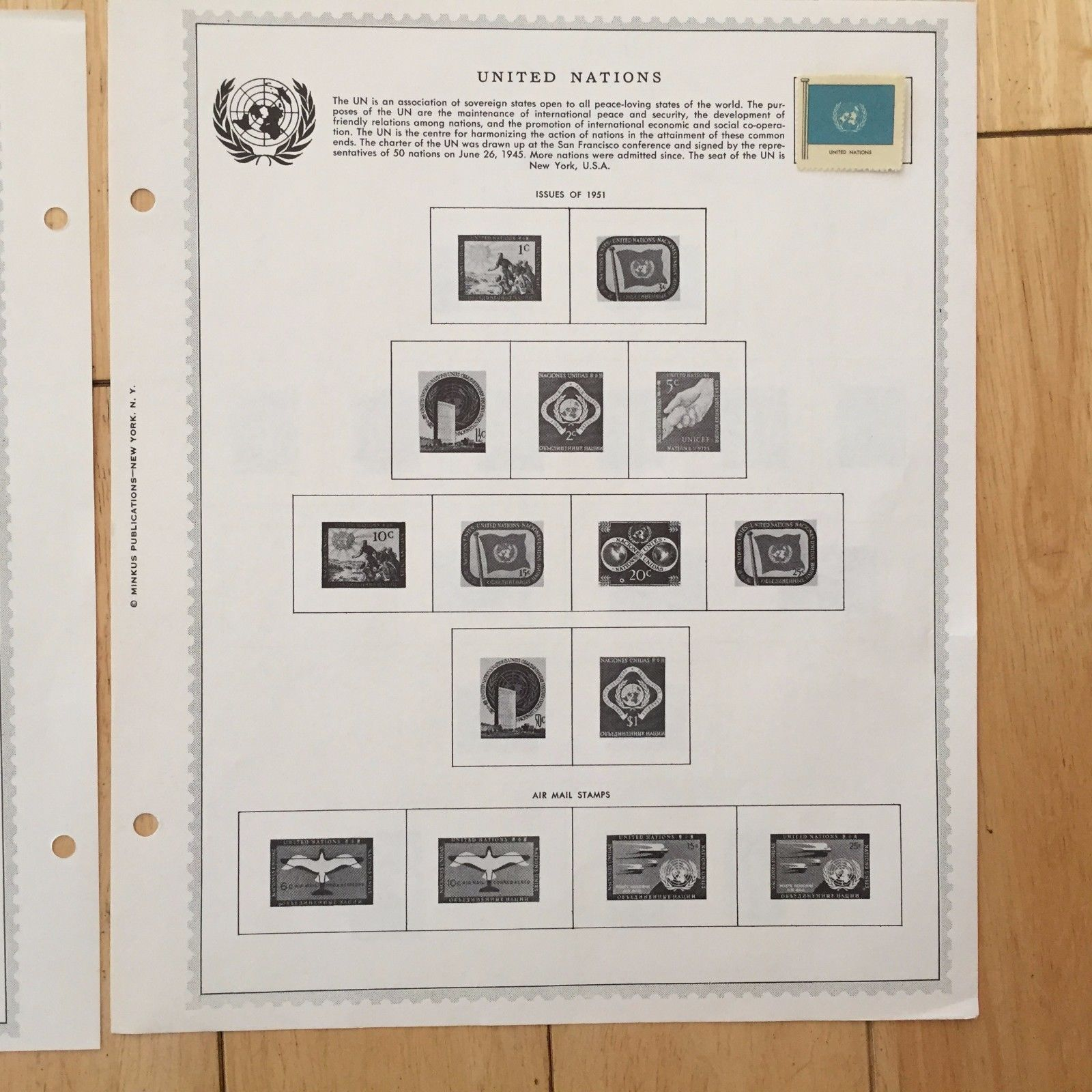 J26 United Nations 1929-1975 European Office Nations Unies Minkus Hinged Stamps