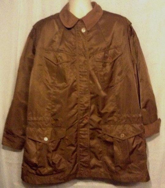 Lauren Ralph Lauren Nylon Jacket Windbreaker BIG Pockets Mesh Liner Size Large - $71.54