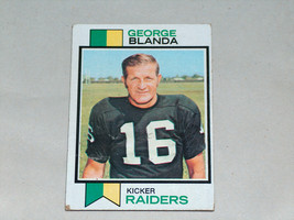 1972 topps #25 George bowls oakland raiders nfl football trading card - $8.26