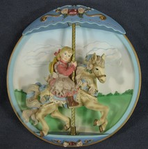 Swept Away Collector Plate Carousel Daydreams Tseng 3D Figural Bradford ... - $21.95