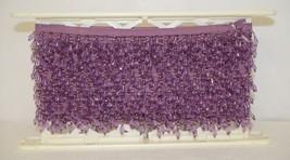Conso 40690JH25 Purple Teardrop Shape Beaded Trim 12 Yards image 2