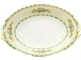 """VINTAGE MEITO CHINA MADE IN JAPAN HAND PAINTED 11.5"""" OVAL GOLD EDGE DISH - $8.55"""