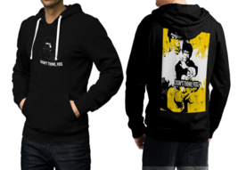Don't Think, Feel. Fighter Quote Black Cotton Hoodie For Men - $39.99