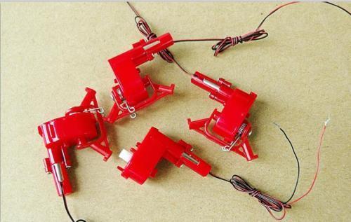5 x DC 3 V 3,7 V 1000 RPM Mikroschneckengetriebemotor 4x12mm Mini Coreless DC...