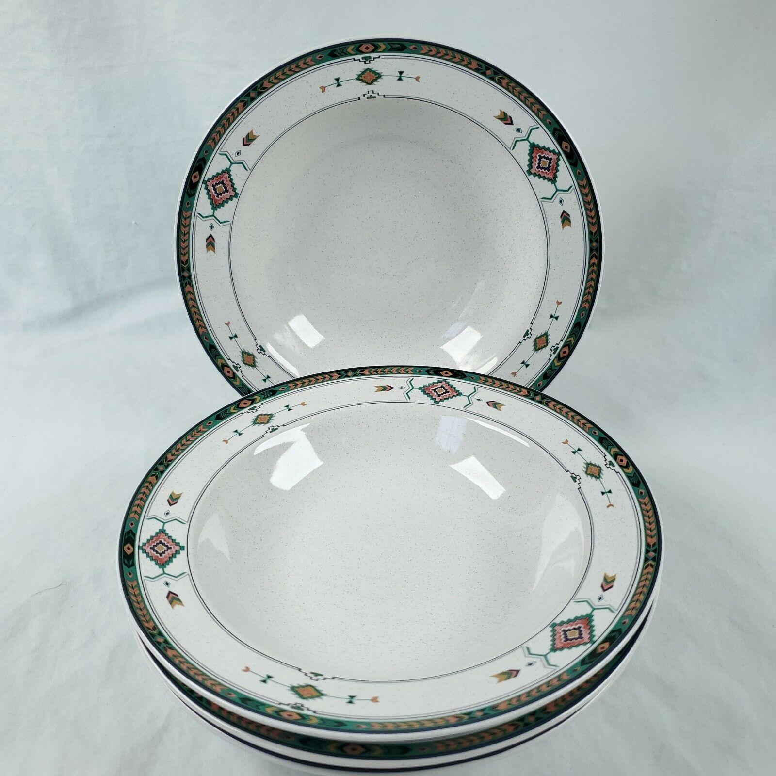 """Set of 4 Studio Nova Adirondack Rimmed Soup Salad Bowls 8-1/4"""" - $34.60"""