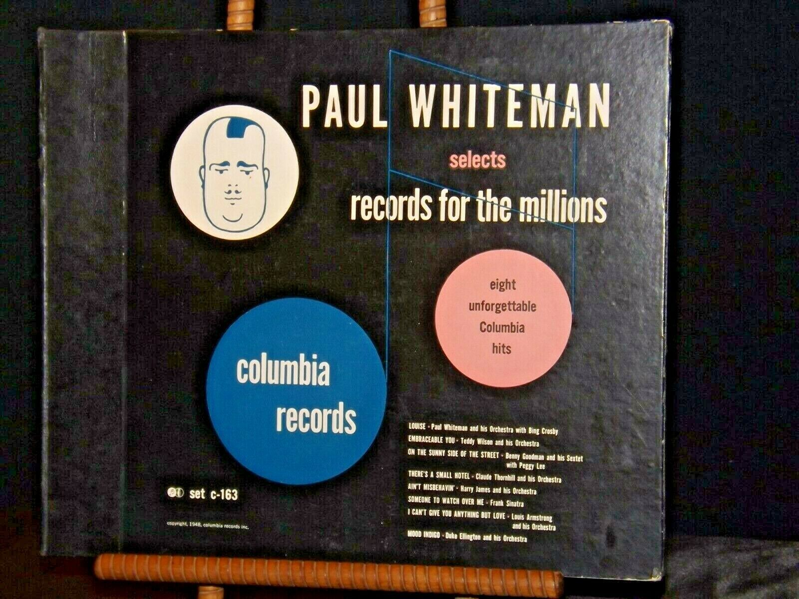Columbia Records Paul Whiteman Selects Records for the Millions AA19-1496 Antiqu