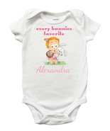 Every Bunnies Favorite Onesie - Personalized Easter Onesie for Baby Girls - $13.99
