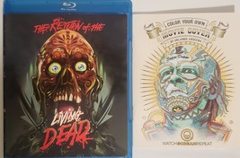 Return of The Living Dead (Blu-ray) Walmart Exclusive with cover coloring book