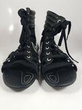 NIKE WOMEN'S SANDALS GLADIATEUR II Leather BLACK/METALLIC SILVER 429881 003 image 6