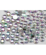 9mm SS42 Crystal Clear AB A01 Acrylic Rhinestones - 80 PCS - $6.93