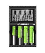 JoinRun S4 4Slots EU Plug LCD Display Automatic Rapid Intelligent Li-ion... - $44.70