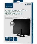 Insignia 50 Mile Amplified Thin Film Indoor HDTV Antenna Black/White Fre... - $24.49