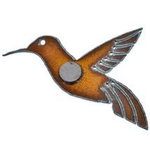 "Rustic Rusted Patina Iron Metal Cutout Hummingbird 5.5"" Refrigerator Magnet (B) image 2"