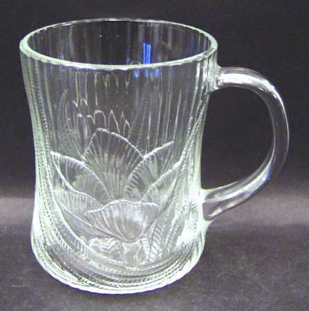 Arcoroc Clear Glass Canterbury Design Large Glass Mug 10 oz  Made In France