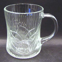 Arcoroc Clear Glass Canterbury Design Large Glass Mug 10 oz  Made In France - $9.99