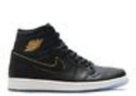low priced e8c51 dcfc7 Air Jordan Mens Retro 1 High Basketball Shoes Black Gold Summit White 55.