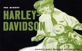 Couple Harley Davidson The World's Popular Motorcycle Bike Vintage Poster Repro - $10.96+