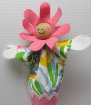 "Pop Up Puppet - Cone Doll with Flower Head - Vintage - Toy 18"" tall (253) - $19.79"