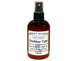 Drakkar Type Body Spray - Handmade Spray / Body Spray / Room Spray / Body Mist / - $8.49