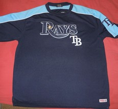 XL TAMPA BAY RAYS JERSEY Great Gift BASEBALL Two Tone Blue NICE LOGO TEA... - $30.00