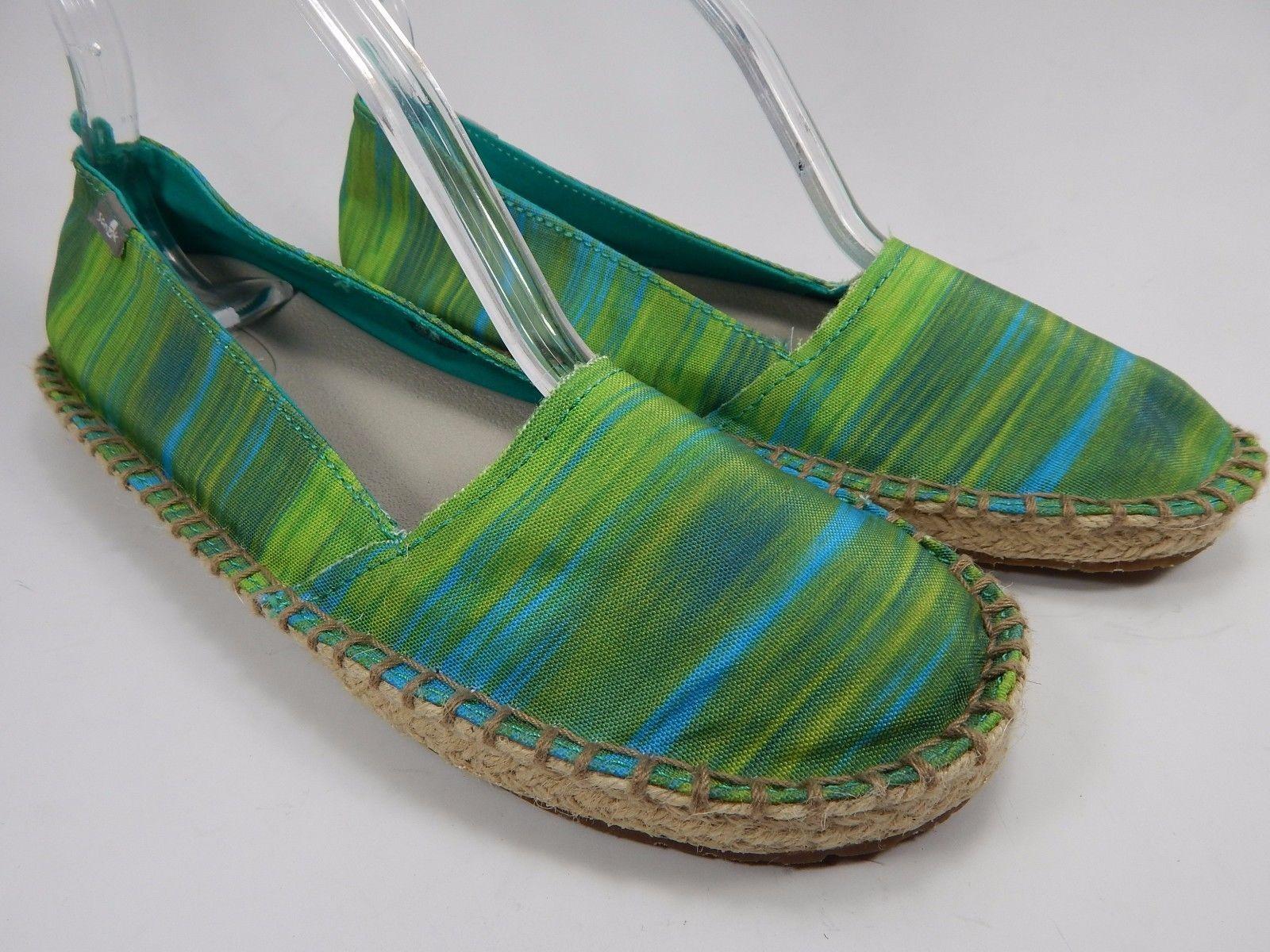 Sanuk Natal Blue / Ikat Green Women's Casual Sandals Shoes Size US 7 M (B)