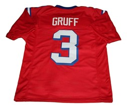 Nigel Gruff #3 The Replacement Movie New Men Football Jersey Red Any Size image 5