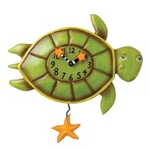 Allen Designs Shelldon the Turtle Pendulum Childs Kids Whimsical Wall Clock - $54.00
