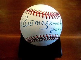 BILL MAZEROSKI HOF 01 PITTSBURGH PIRATES SIGNED AUTO VINTAGE ONL BASEBAL... - $98.99