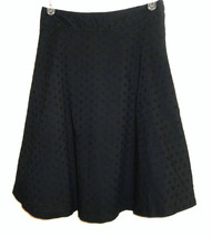 Womens Size 8 Skirt GAP Black Eyelet Lined Casual Cotton - $16.82