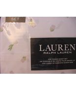 Ralph Lauren Potted Cactus Plants on White Sheet Set Queen - $90.00