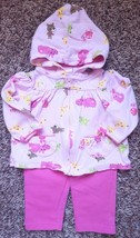 Girl's Size 6-9 M Months 3 Pc Pink Carter's Animal Jacket, Top, Buster B... - $7.50