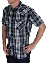 Levi's Men's Classic Casual Button Up Plaid Grey Shirt 3LYSW0182-Gry image 3