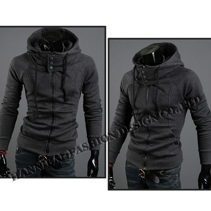 Freeshipping,2018 New Arrival Fashion Hoodies Sweatshirts,High Collar Hooded Jac