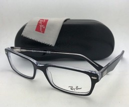 New RAY-BAN Eyeglasses HIGHSTREET RB 5206 2034 54-18 Black on Clear Frames