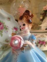 Vintage Josef Originals Blue Dress April Diamond Birthstone Girl Figurine - $45.00