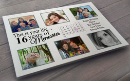 Personalised large white wooden plaque sign, 40 x 30 cm, 16th birthday p... - $25.63