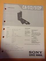 Sony original Service Manual for CA-512 / 512P Camera Adaptor - $15.83