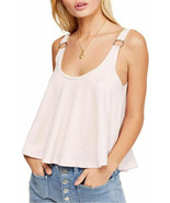Free People Carly Metal Ring Tank Top Slight Crop Loose Fitting ORCHID L... - $11.40+