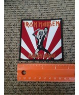 Iron Maiden Rock Band Screen Printed Limited Sew on Patch Maiden Japan B... - $14.70