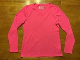 New Balance Women's Pink Long Sleeve V-Neck Athletic Shirt - Size: Small - $12.86