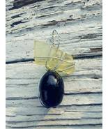 Sunshine Memories necklace: Rare yellow sea glass, silver color wire & b... - $32.00