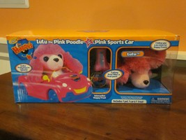 ZHU LULU THE PINK POODLE AND HER PINK SPORTS CAR BRAND NEW IN BOX - $29.99