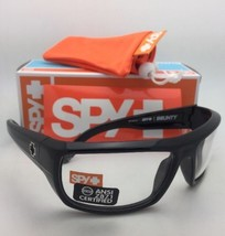 New SPY OPTIC Sunglasses BOUNTY Shiny Black Frames with ANSI Z87.1 Safety Lenses