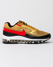 Nike Air Max 97 BW Metallic Gold Red Trainers image 4
