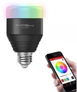 MIPOW E27 LED Bulb 5W RGB Light Smart Bluetooth 4.0 Wireless Control AC1... - £27.43 GBP