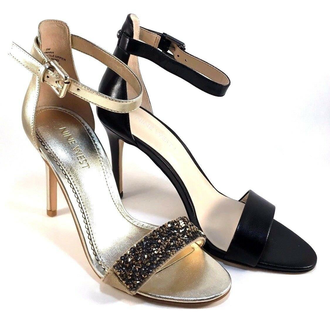 Nine West Mana Leather High Heel Dressy Ankle Strap Sandals Choose Sz/Color