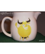 SCANDINAVIAN(FINNISH) MODERN-ARABIA YELLOW BULL / COW (HELUNA) CREAMER - $49.95