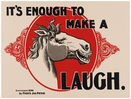 "16x20""Decoration CANVAS.Interior room design art.Laughing horse.Funny.6433 - $50.00"