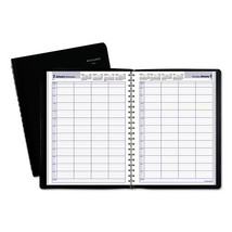 DayMinder Four-Person Group Daily Appointment Book, 7 7/8 x 11, Black, 2019 - $76.59