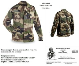Authentic Original French Military CEC Camo Combat / BDU Top = U.S.A. XX... - $24.24